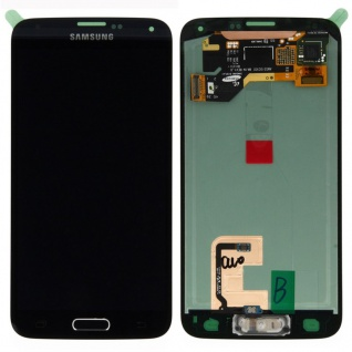 Display Full LCD Komplettset Schwarz für Samsung Galaxy S5 G900 / S5 Plus G901F