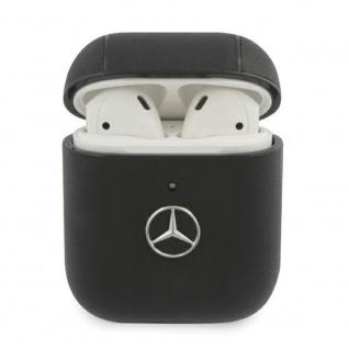 Mercedes Apple Airpods / Air Pods 2 Cover Schwarz Schutzhülle Tasche Case Etui