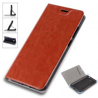 Flip / Smart Cover Braun für Xiaomi Redmi 5 Plus Schutz Tasche Etui Case Hülle