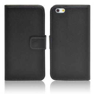 Wallet Tasche Deluxe Schwarz für Apple iPhone 6 4.7 Handy Hülle Zubehör Case - Vorschau 5