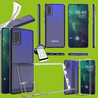 Für Samsung Galaxy A41 Silikon TPU Transparent + H9 Glas Handy Tasche Hülle Etui