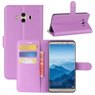 Tasche Wallet Premium Lila für Huawei Mate 10 Hülle Case Cover Etui Schutz Neu