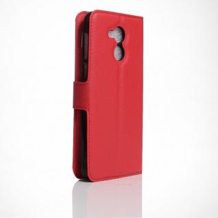 Tasche Wallet Premium Rot für Huawei Honor 6C Hülle Case Cover Etui Schutz Neu - Vorschau 2