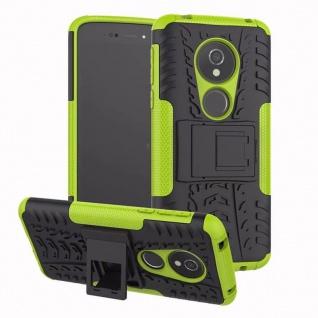 Für Motorola Moto G6 Play /E5 Hybrid Case 2teilig Outdoor Grün Etui Tasche Hülle