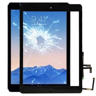 Apple iPad Air Schwarz Display Displayglas TouchScreen + Home Button Scheibe