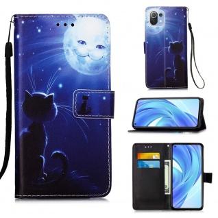 Für Xiaomi Mi 11 Lite Kunst-Leder Handy Tasche Motiv 2 Hülle Case Etuis Schutz