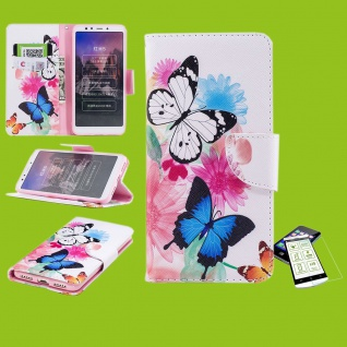 Für Samsung Galaxy M20 6.3 Kunstleder Tasche Book Motiv 39 + H9 Glas Hülle Etuis