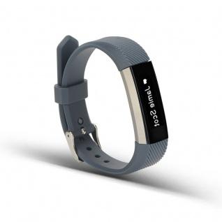 Für Fitbit Alta HR Kunststoff / Silikon Armband Männer / Größe L Dunkelgrau Uhr