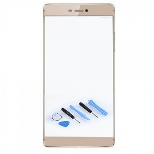 Displayglas Glas Schutz Gold für Huawei Ascend P8 Reparatur Ersatzteil + Tool