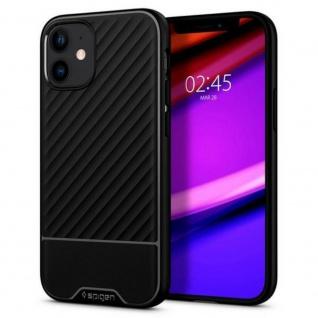 Spigen Core Armor Silicone Case für iPhone 12 Mini Schwarz Schutz Handy Hülle