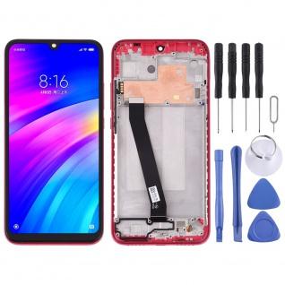 Für Xiaomi Redmi 7 Display Full LCD Touch mit Rahmen Reparatur Rot Ersatz Neu