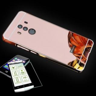 Alu Bumper 2 teilig Pink + 0, 3 H9 Panzerglas für Huawei Mate 10 Pro Tasche Hülle