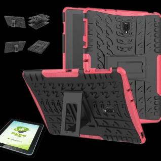 Für Samsung Galaxy Tab A 10.5 T590F Hybrid Outdoor Pink Tasche 0.4 H9 Hart Glas