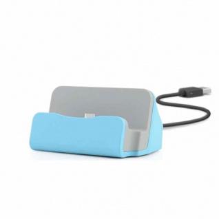 Dockingstation Sync Lade Dock Tischladestation für Micro USB Smartphones Blau
