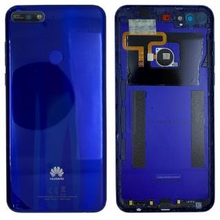 Huawei Akkudeckel Akku Deckel Batterie Cover Blau für Y7 2018 97070THH Ersatz