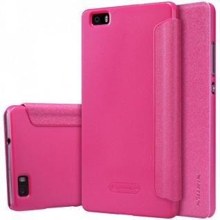 Original Nillkin Smartcover Pink für Huawei Ascend P8 Lite Tasche Cover Hülle