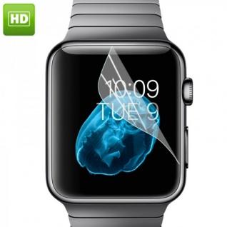 Displayschutzfolie für Apple Watch 42 mm Schutz Folie Zubehör + Poliertuch Neu