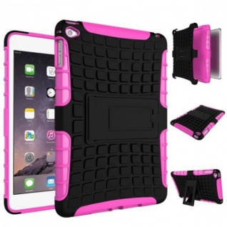 Für Apple iPad Mini 5 7.9 2019 Hybrid Outdoor Tasche Etuis Hülle Cover Pink Case