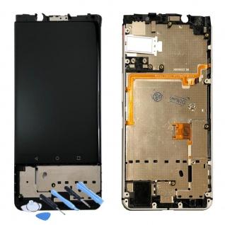 Für Blackberry KEYone Display Full LCD Touch mit Rahmen Reparatur Schwarz Neu