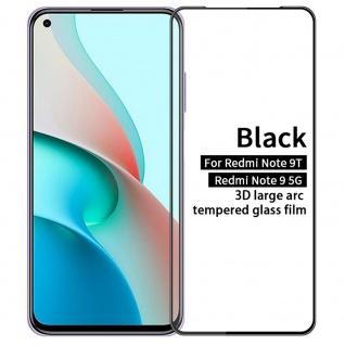 Xiaomi Redmi Note 9T 2x 3D Display Full LCD H9 Hart Glas Schwarz Folie Panzer