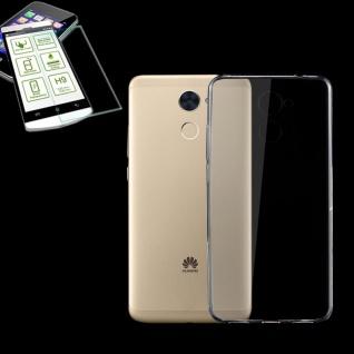 Silikoncase Transparent Tasche + 0, 3 H9 Panzerglas für Huawei Enjoy 7 Plus Hülle