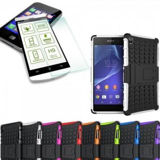 Hybrid Case 2 teilig Weiß für Sony Xperia Z3 Plus E6553 / Dual + Hartglas Neu