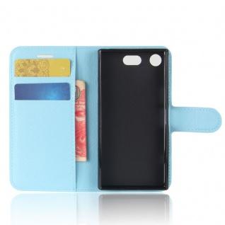Schutzhülle Blau für Sony Xperia XZ1 Compact / Mini Bookcover Tasche Case Cover - Vorschau 5