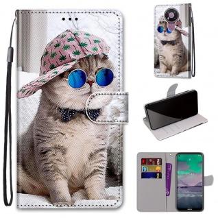 Für Nokia 3.4 Kunstleder Handy Tasche Book Motiv 4 Hülle Case Cover Etuis Schutz