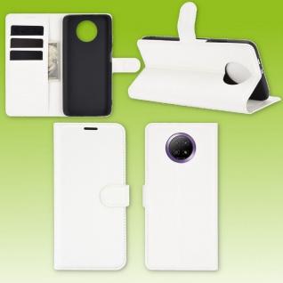 Für Xiaomi Redmi Note 9T 5G Handy Tasche Weiß Etuis Kunst-Leder Cover Hülle Case