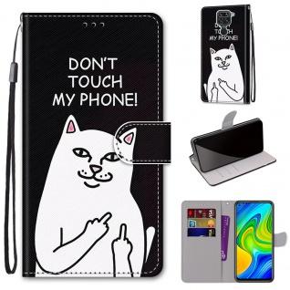 Für Xiaomi Redmi Note 9 Kunst-Leder Handy Tasche Motiv 4 Hülle Etuis Cover Neu