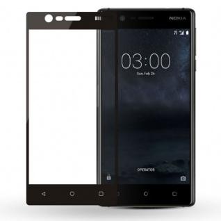 Premium 0, 3 mm gebogenes H9 Panzerglas Schwarz Folie für Nokia 8 2017 Schutz Neu