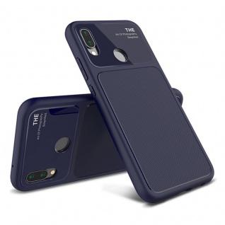 Design Cover Blau für Huawei P20 Lite TPU Silikon Schutz Tasche Hülle Case Neu