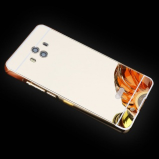 Spiegel / Mirror Alu Bumper 2teilig Gold für Huawei Mate 10 Tasche Case Hülle