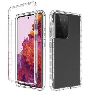 Für Samsung Galaxy S21 Ultra Hybrid Outdoor Transparent Handy Tasche Etuis Hülle