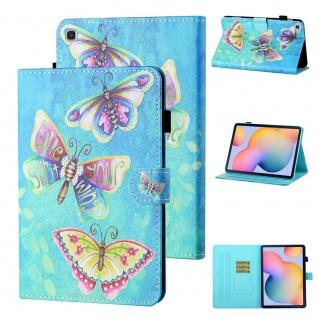 Für Samsung Galaxy Tab S6 Lite P610 Motiv 80 Tablet Tasche Kunst Leder Etuis Neu