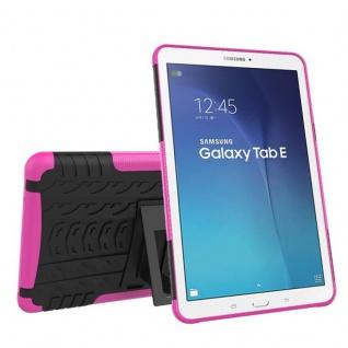 Hybrid Outdoor Schutzhülle Pink für Samsung Galaxy Tab E 9.6 SM T560 Tasche Case