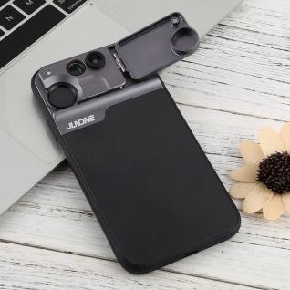 Schutzhülle für Apple iPhone 11 Schwarz + Weitwinkel Teleskop Fisheye Tasche