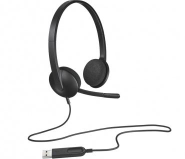 Logitech H340 Headset Kopfhörer Micro Zubehör Graphit Büro Call Center Binaural