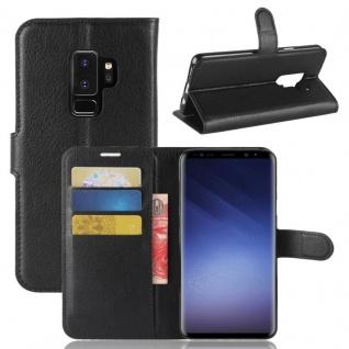 Tasche Wallet Premium Schwarz für Samsung Galaxy S9 Plus G965F Hülle Case Cover