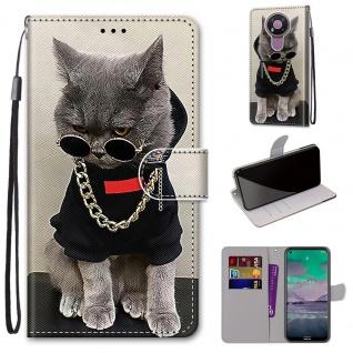 Für Nokia 3.4 Kunstleder Handy Tasche Book Motiv 2 Hülle Case Cover Etuis Schutz