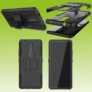 Für Nokia 2.4 Outdoor Schwarz Handy Tasche Etuis Hülle Cover Case Schutz Zubehör