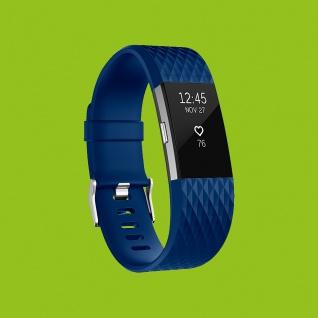 Für Fitbit Charge 2 Kunststoff / Silikon Armband für Männer / Größe L Blau Uhr