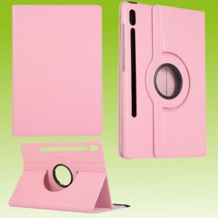 Für Samsung Galaxy Tab S7 Plus / S7 FE Tablet Tasche Hülle Case Etuis Schutz Rosa Cover