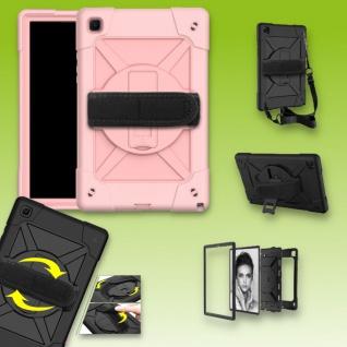 Für Samsung Galaxy Tab A7 10.4 2020 360 Grad Rosa Outdoor Hybrid Tasche Etuis