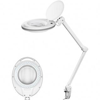 LED Tisch Lupenleuchte 7, 5W 125mm Kristall Glaslinse 1, 75 Vergrößerung 520 Lumen