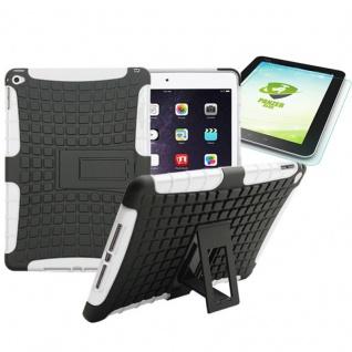 Hybrid Outdoor Schutzhülle Weiß für iPad Air 2 Tasche + 0.4 H9 mm Panzerglas Neu