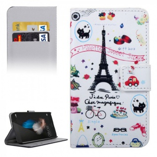 Schutzhülle Muster 35 für Huawei G8 5.5 Zoll Bookcover Tasche Case Hülle Wallet