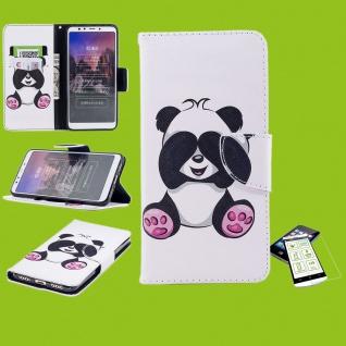 Für Samsung Galaxy M20 6.3 Kunstleder Tasche Book Motiv 33 + H9 Glas Hülle Etuis