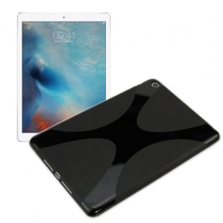 Schutzhülle Silikon X-Line Schwarz Hülle für Apple iPad Mini 4 7.9 Tasche Cover