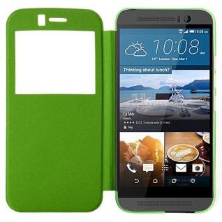 Smartcover Window Grün für HTC One 3 M9 Tasche Cover Case Hülle Etui Zubehör Neu - Vorschau 1